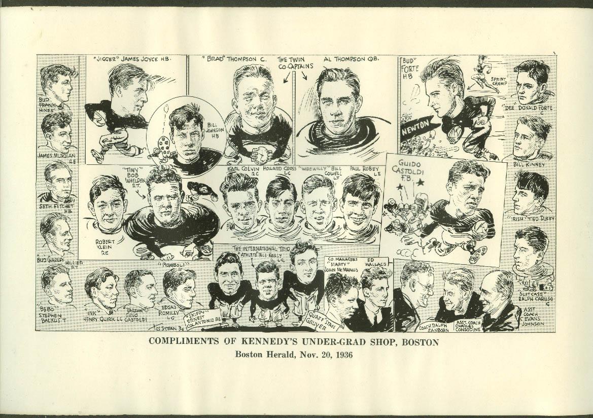 Newton High School Boston Herald Caricature Team Picture 1936