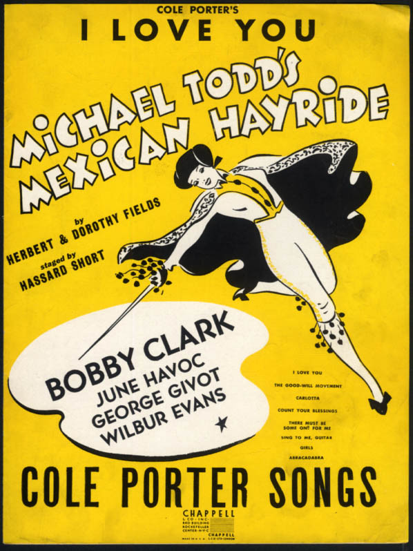 Image for I Love You from Michael Todd's Mexican Hayride sheet music Cole Porter 1943