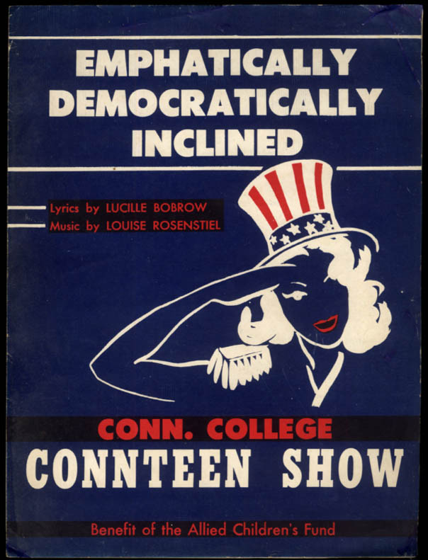 Emphatically Democratically Inclined sheet music CT College Connteen Show 1943