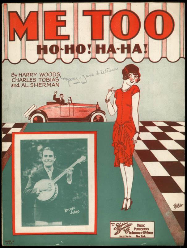 Me Too Ho-Ho! Ha-Ha! sheet music Woods, Tobias & Sherman 1926 Politzer art