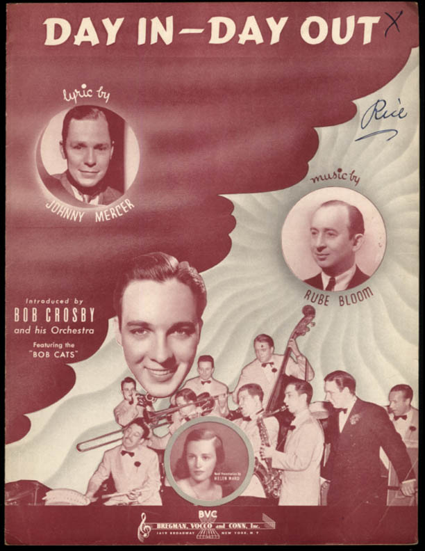 Day In - Day Out sheet music Johnny Mercer Bob Crosby Orchestra 1939