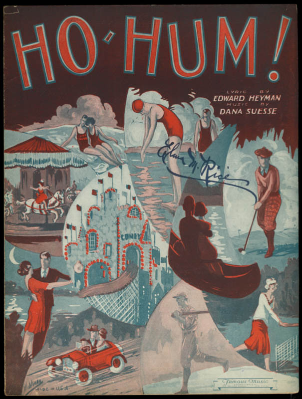 Ho-Hum! sheet music by Heyman & Suesse 1931 Coney Island baseball golf tennis