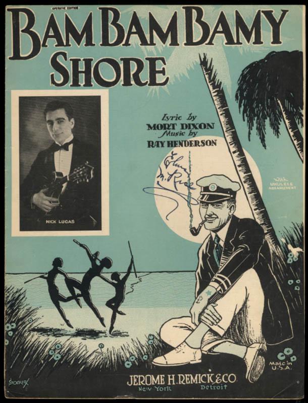 Bam Bam Bamy Shore sheet music by Dixon & Henderson 1925