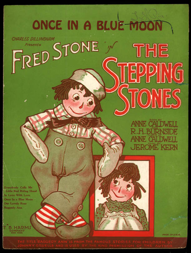 Once in a Blue Moon sheet music The Stepping Stones Gruelle Raggedy Ann 1923
