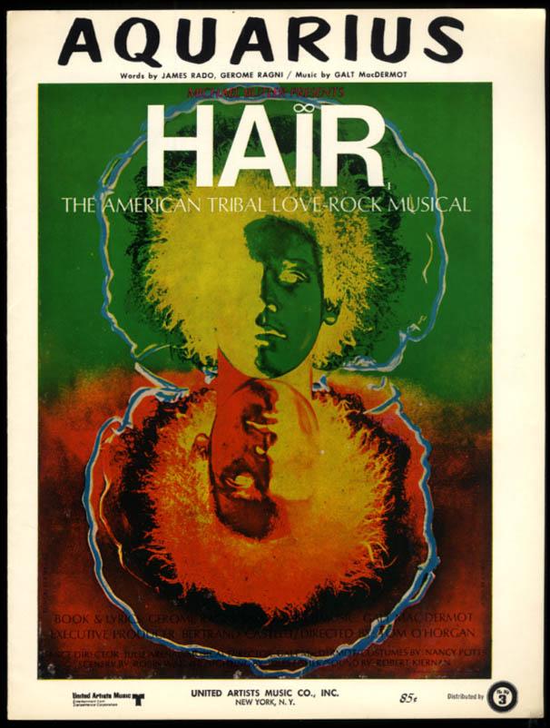 Aquarius sheet music from Hair / Rado, Ragni & MacDermot 1968