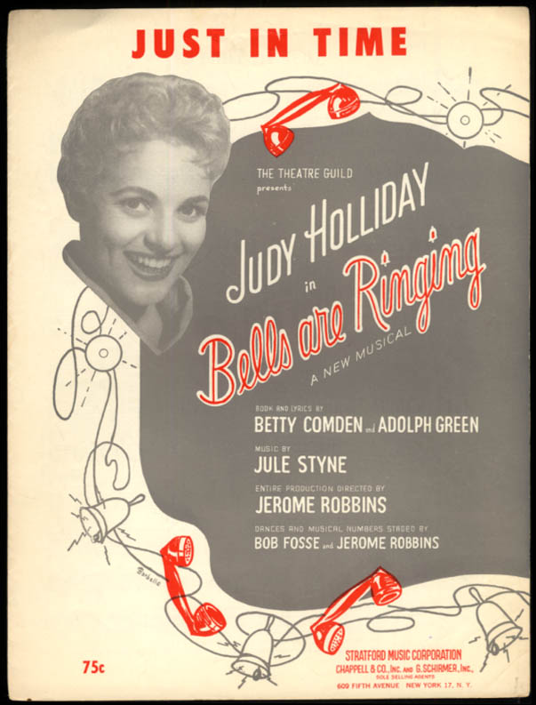 Just In Time sheet music Judy Holliday Bells Are Ringing 1956 Comden & Green