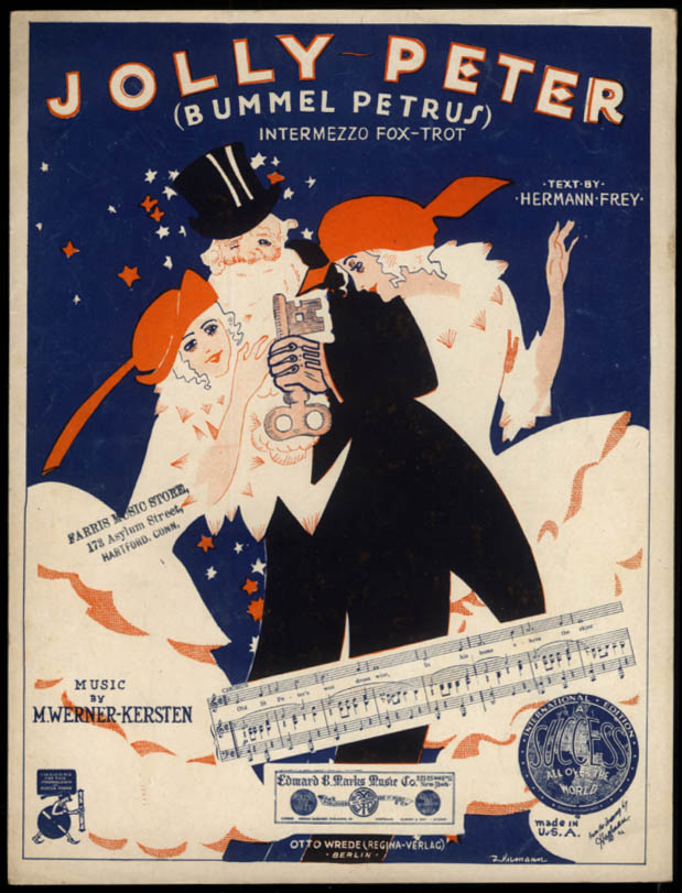 Jolly Peter sheet music Werner-Kersten & Frey 1922 Hoffman art