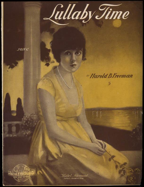 Lullaby Time sheet music Mabel Normand / Harold B Freeman 1919