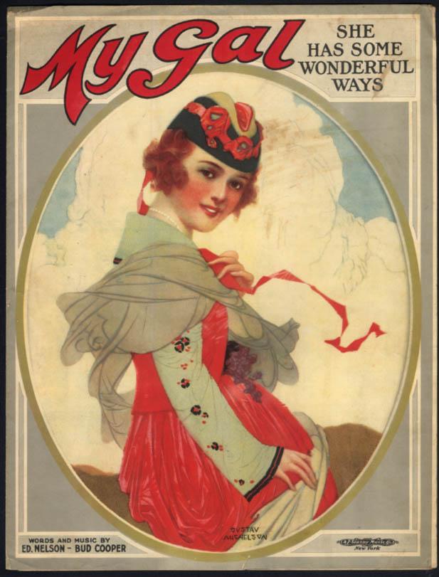 My Gal She Has Some Wonderful Ways sheet music Gustav Michelson art 1919