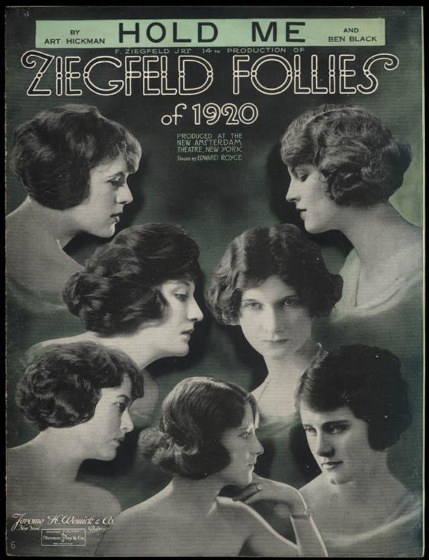 Hold Me sheet music Ziegfeld Follies of 1920 / Hickman & Black