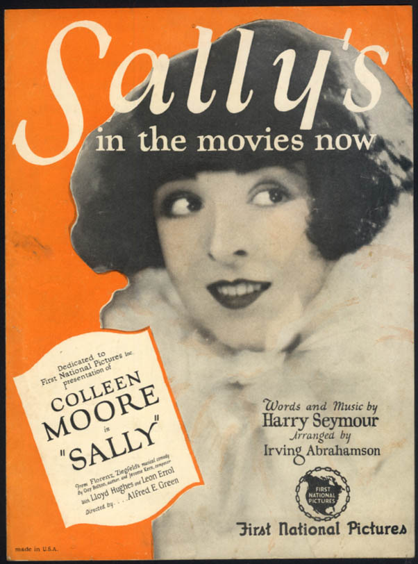 Sally's In the Movies Now sheet music Colleen Moore 1925