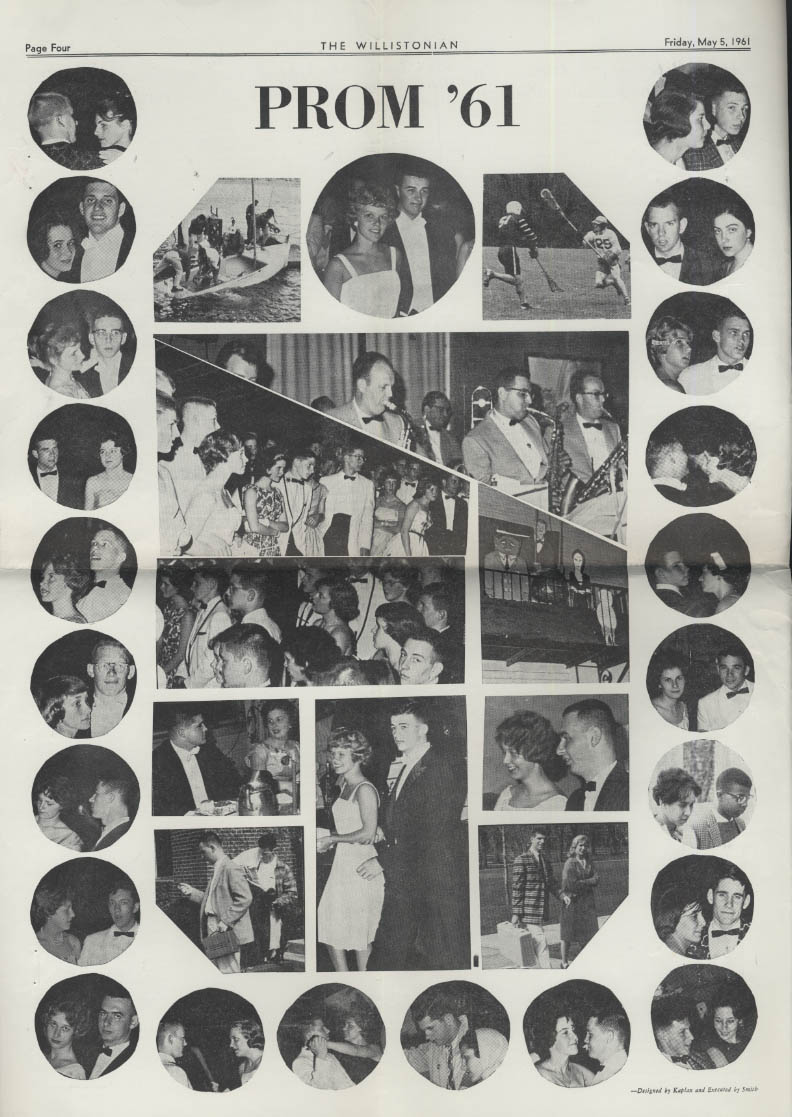 The WILLISTONIAN Williston Academy News 5/5 1961 prom, baseball, lacrosse, golf