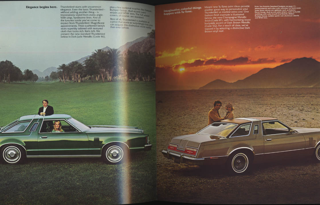 Ford Thunderbird for 1977 sales brochure A new kind of thunder