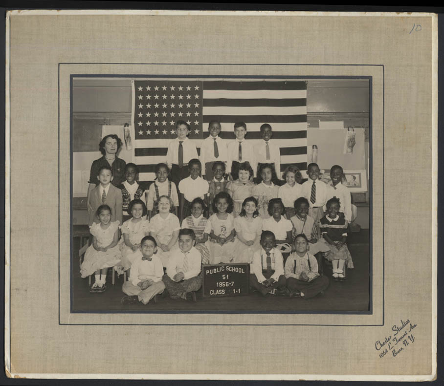 Image for Public School 51 PS 51 Bronx New York Class Picture: Class 1-1 1956-7