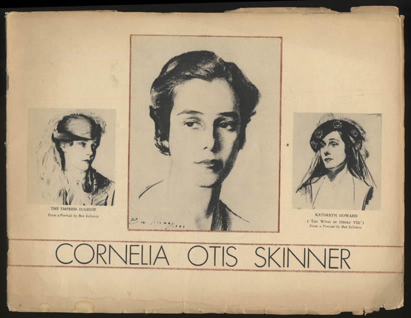 Cornelia Otis Skinner New Idea in Theatre souvenir program ca 1930s