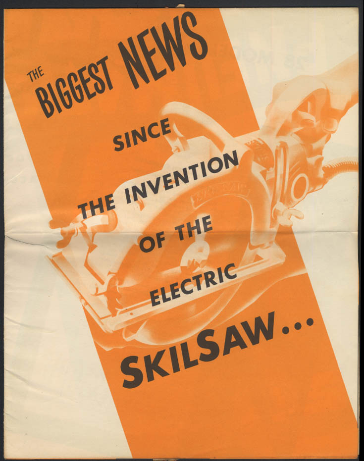 Biggest News Since Invention of Electric SkilSaw: Pneumatic! Broadside ca 1940s