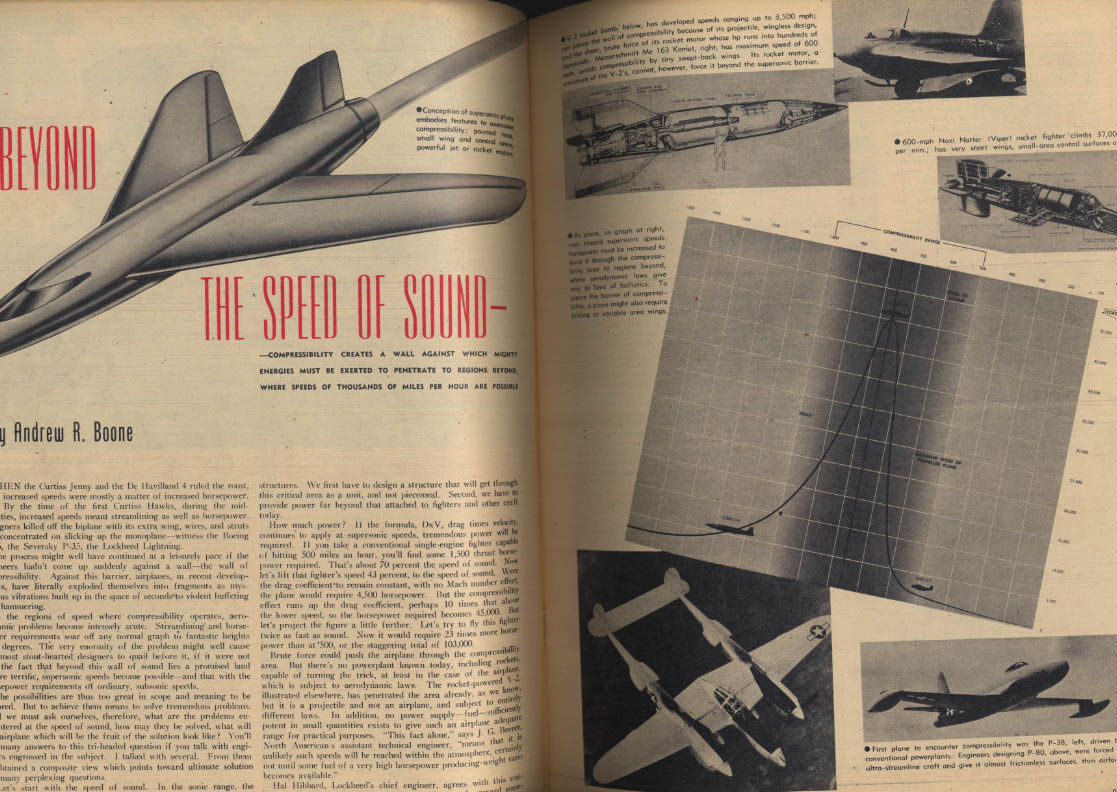 AIR TRAILS PICTORIAL 12 1945 P-80 Bellanca Cruisair Skycoupe Spruce Goose