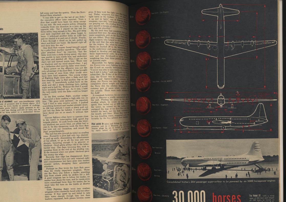 AIR NEWS 5 1945 Convair 37 Ryan Aviation Smoke Screen Defenses