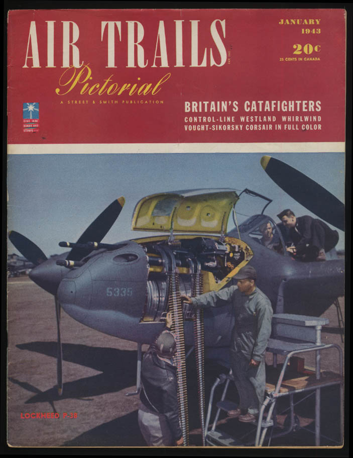 AIR TRAILS PICTORIAL 1 1943 P-38 Brit Catafighters Vought-Sikorsky Corsair