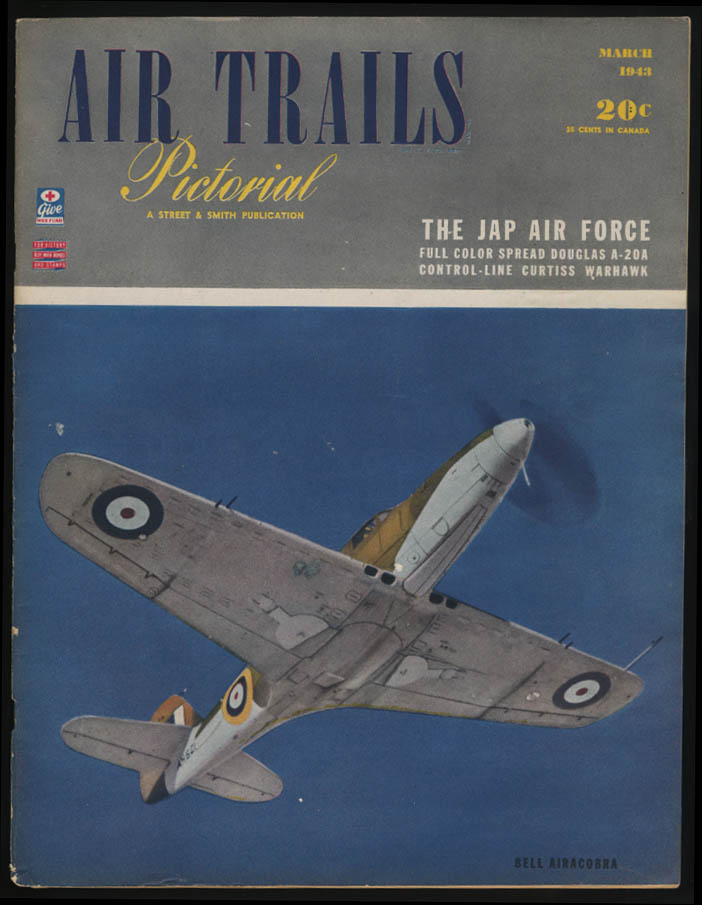 AIR TRAILS PICTORIAL 3 1943 P-39 Jap Air Force A-20A Warhawk Mosquito