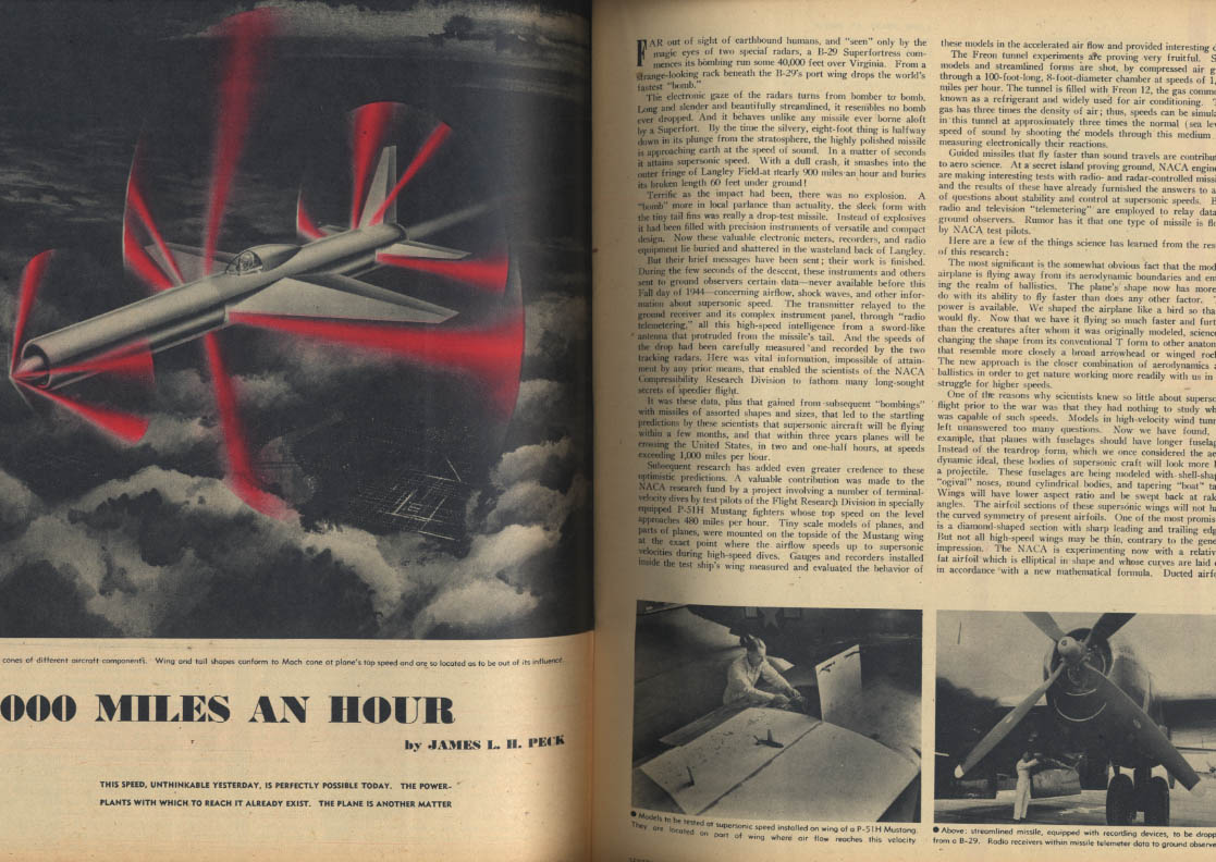 AIR TRAILS PICTORIAL 9 1946 1000mph? Taylorcraft La Guardia P-47 Skycycle