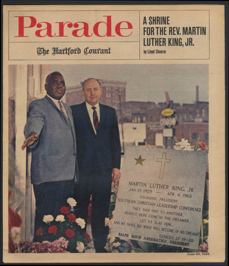 PARADE 6/30 1968 Martin Luther King Jr Shrine; John McCain & Parents