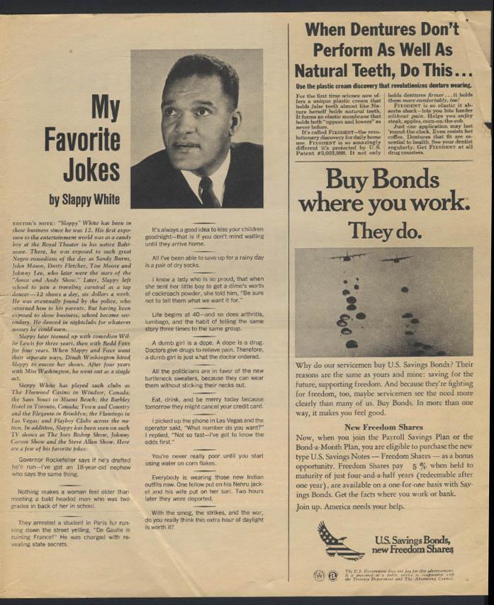 PARADE 6/23 1968 JBJ & Cyrus Vance; Slappy White; Gordon Parks
