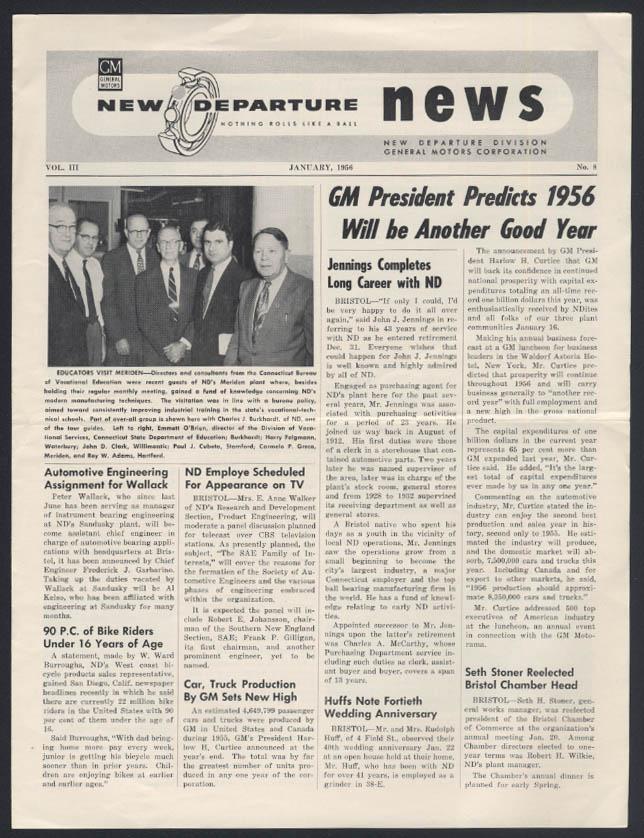 General Motors NEW DEPARTURE NEWS 1 1956 Motorama items