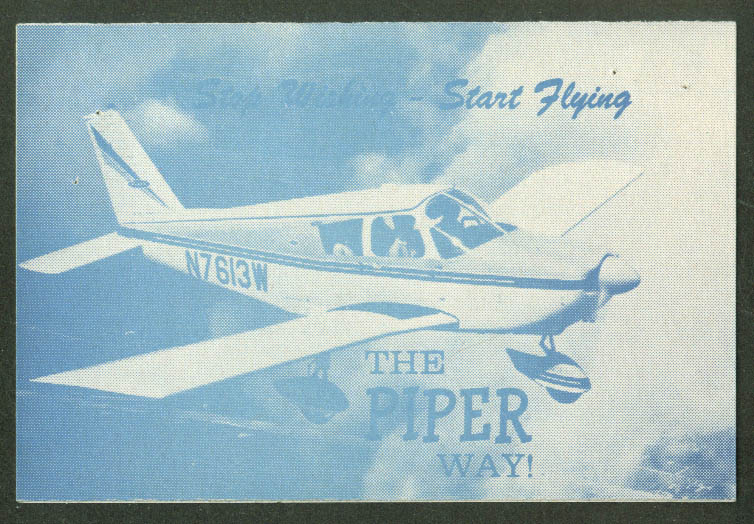 Thunderbird Flying Service Start Flying the Piper Way folder ca 1960s Ogden UT