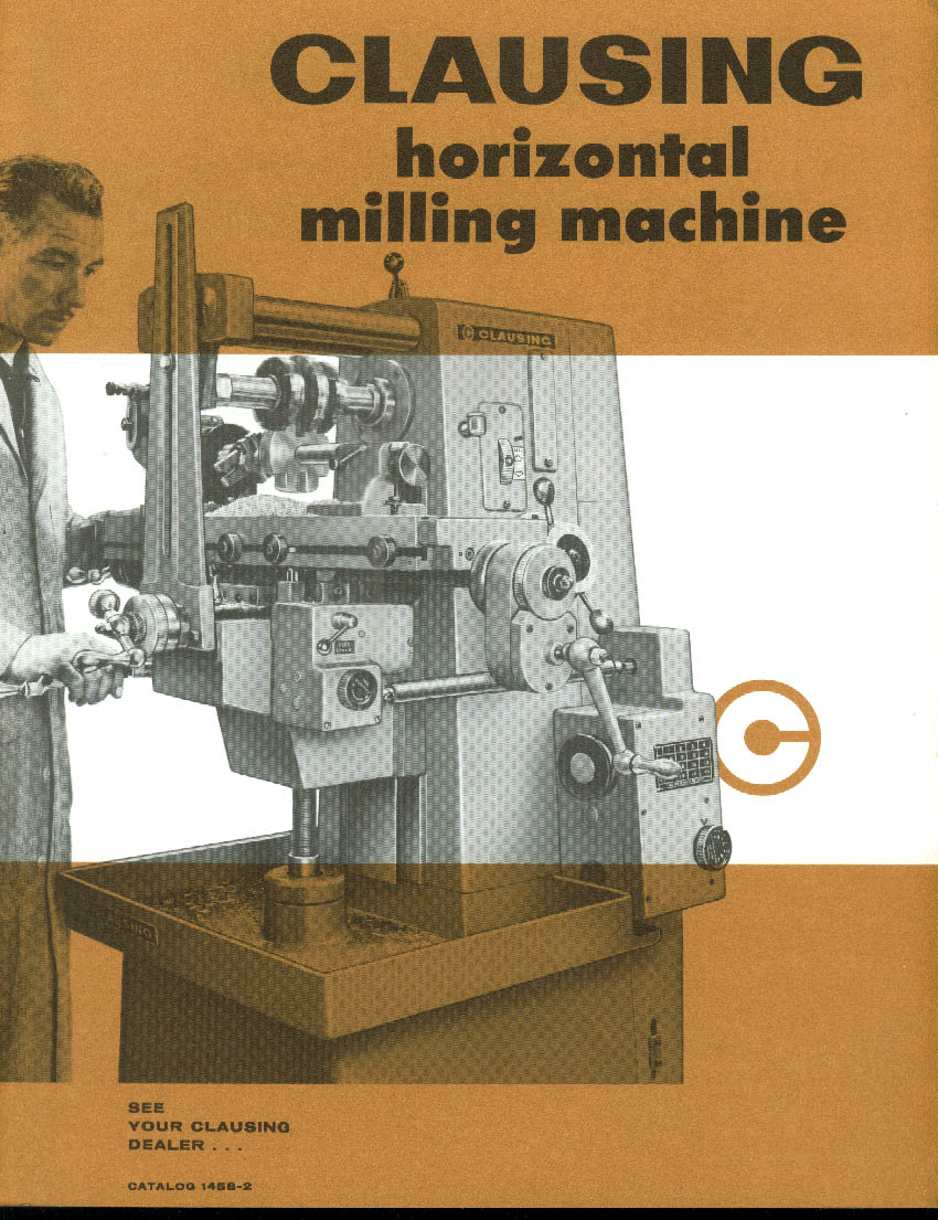 Clausing Horizontal Milling Machine sales folder 1966