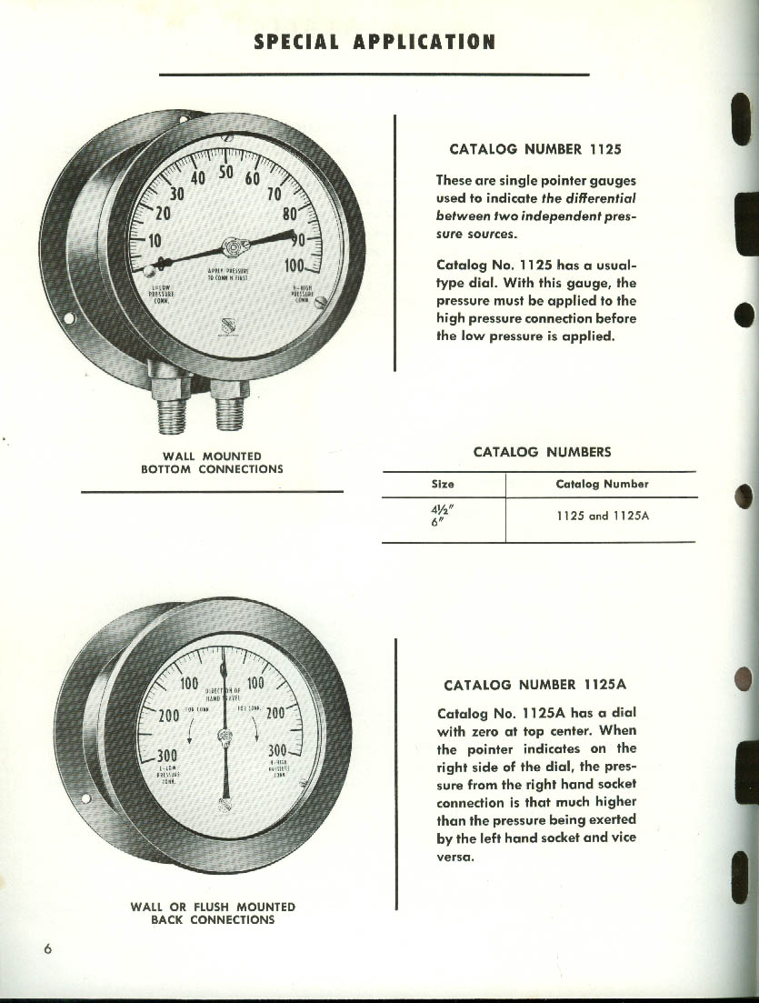 Ashcroft Special Application Gauges catalog 1964 Manning Maxwell & Moore