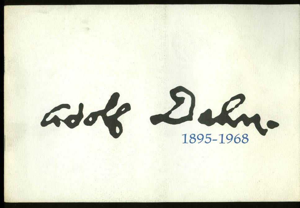 Adolf Dehn 1895-1968 art exhibition catalog Columbus Gallery 1969 OH