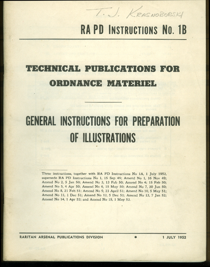 Raritan Arsenal Ordnance Materiel Illustrations Instructions 1952