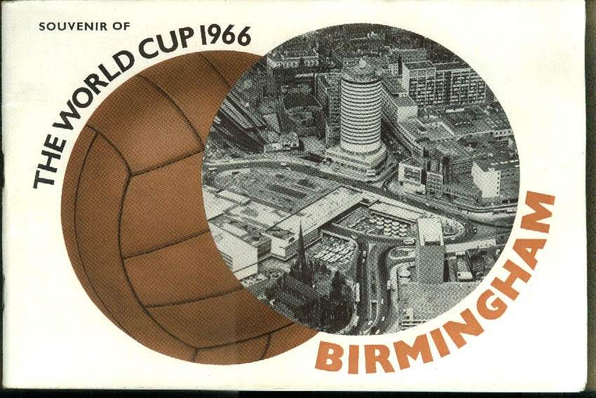 Souvenir of the World Cup 1966 Guide to Birmingham England
