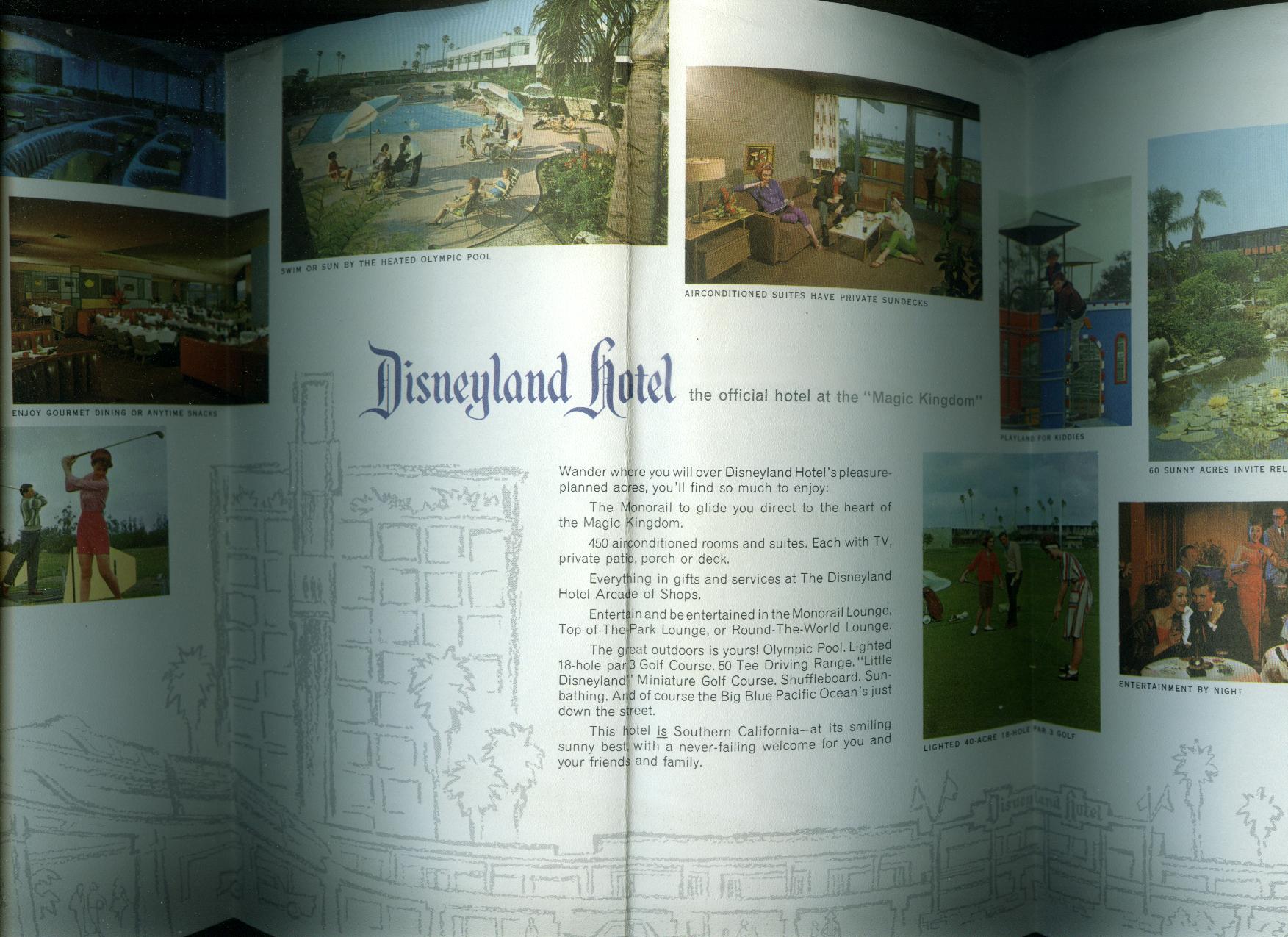 Disneyland Hotel Anaheim CA visitor folder 1960s