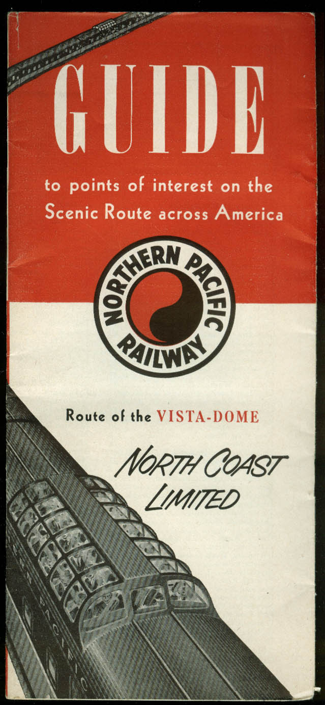 Northern Pacific Railway Guide to Scenic Points Across America brochure 1957