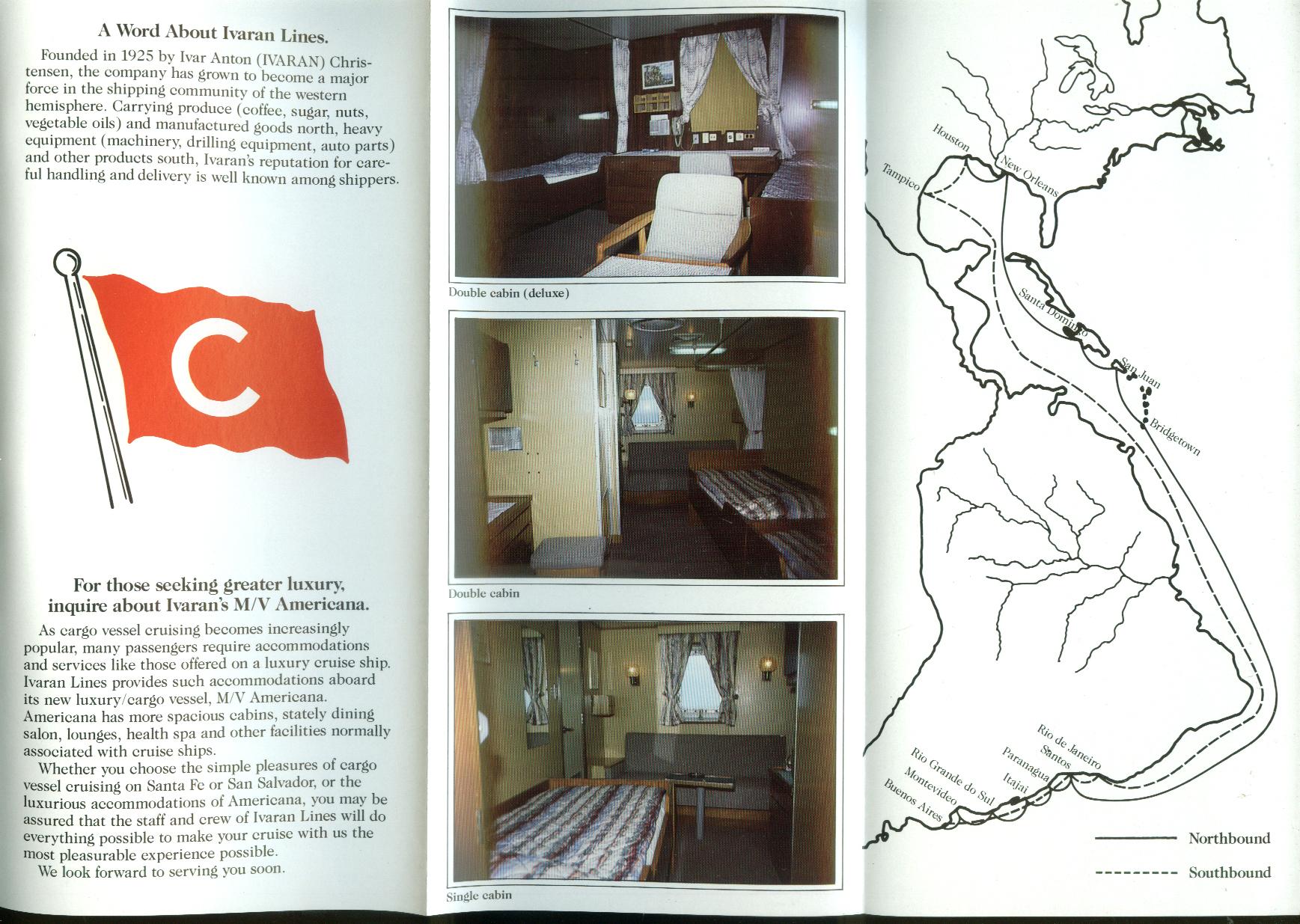 Ivaran Lines Cargoliner M S Santa Fe & Salvador folder 1991
