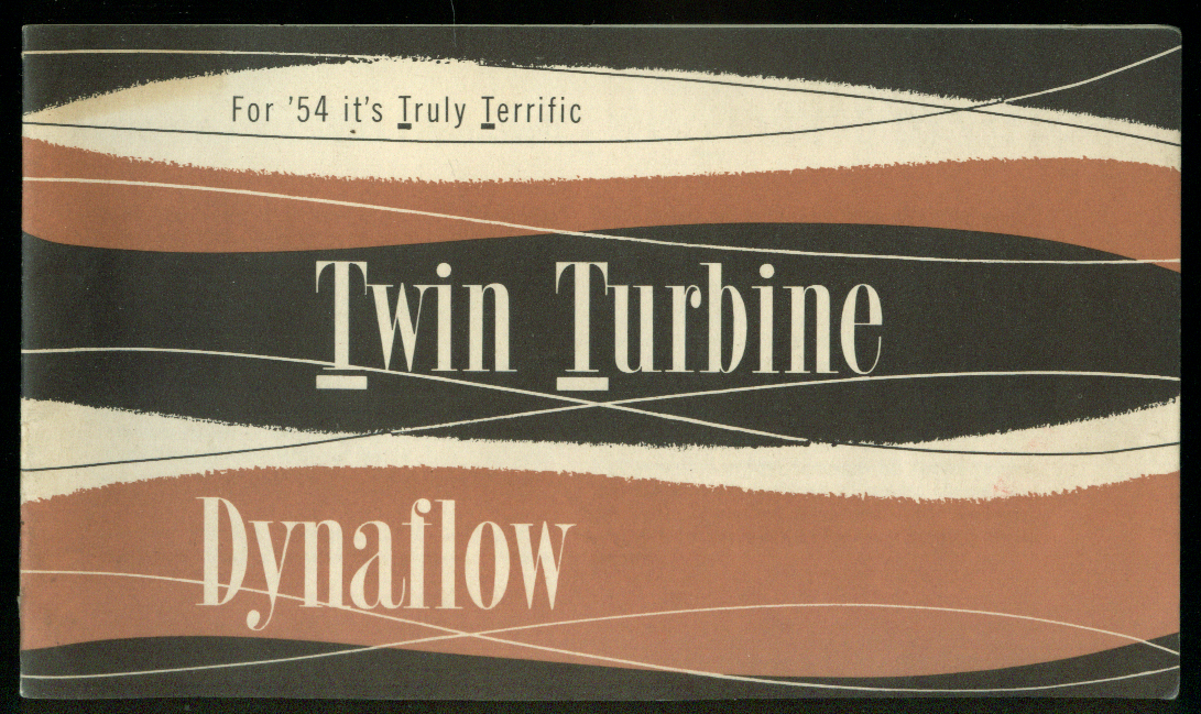 Buick Twin Turbine Dynaflow Truly Terrific for 1954 brochure