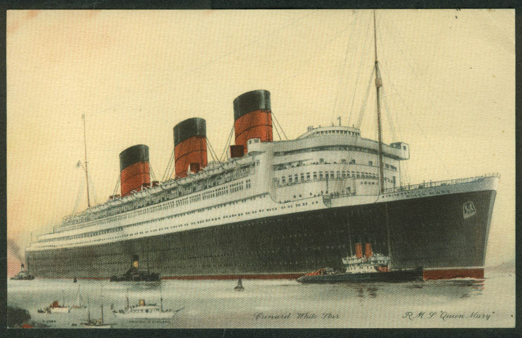 Cunard White Star R M S Queen Mary Abstract of Log Card Southampton-NY 8 1938