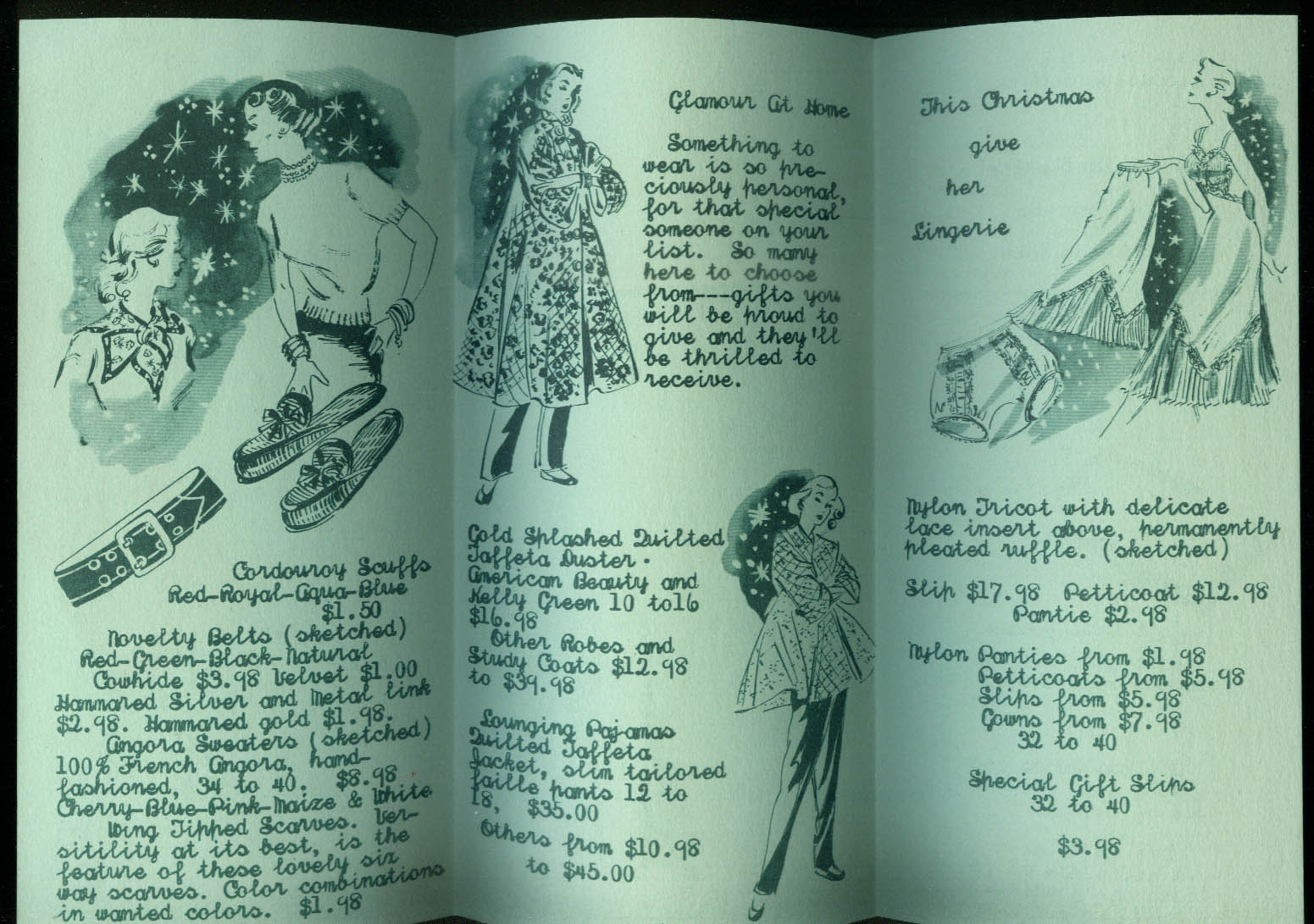 Vera Green Distinctive Accessories catalog 1950s lingerie hosiery slippers