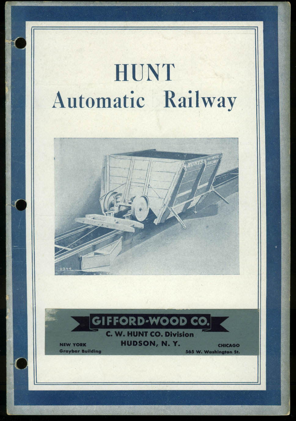 Hunt Automatic Mining Railway Catalog ca 1930