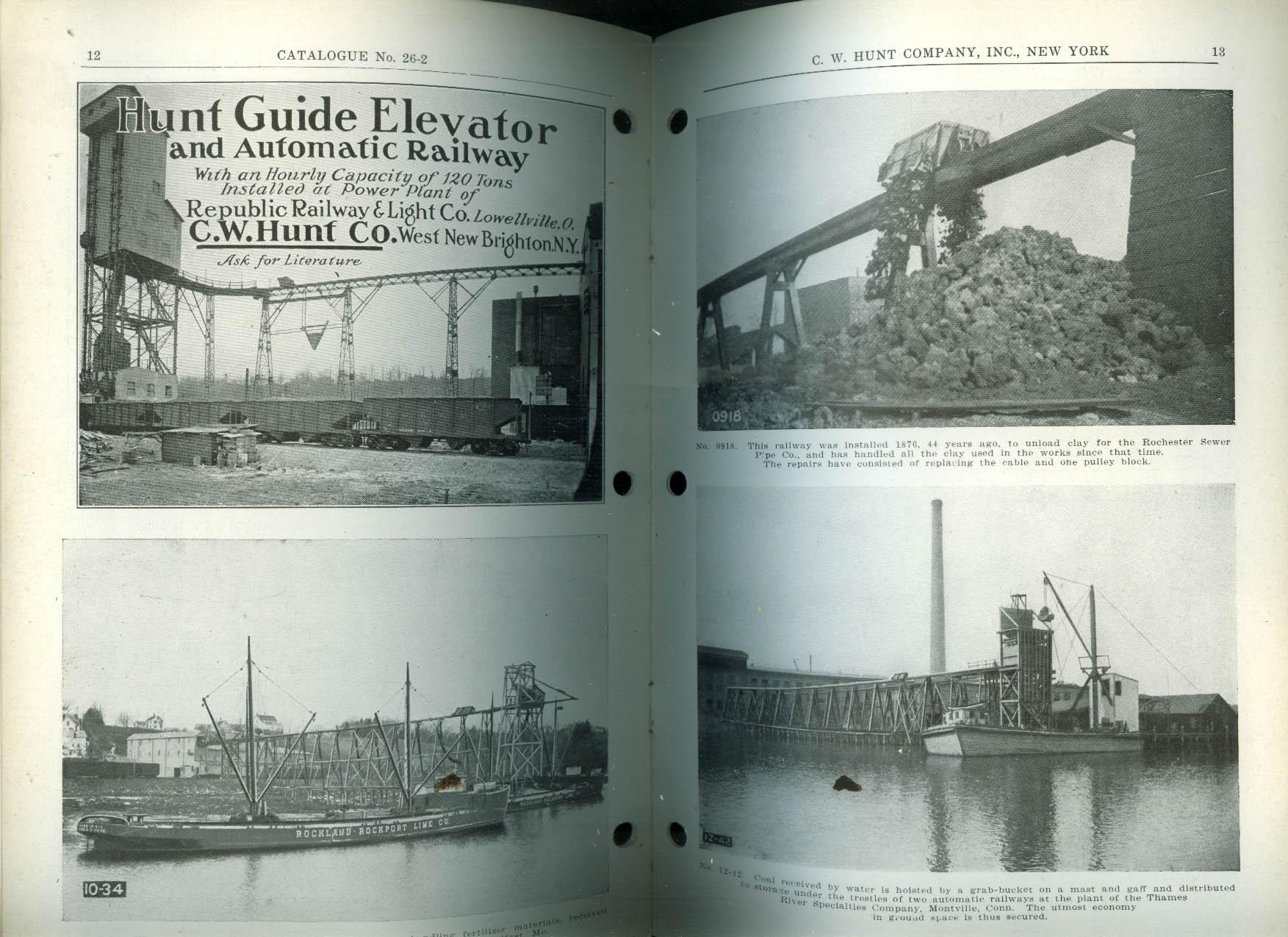 Hunt Automatic Mining Railway Catalog ca 1930