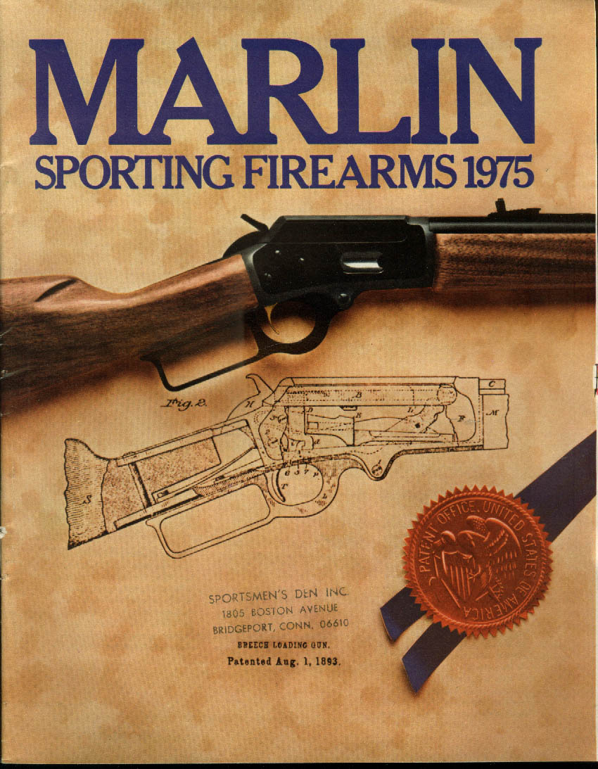 Marlin Sporting Firearms Catalog 1975 rifle shotgun Glenfield rifles