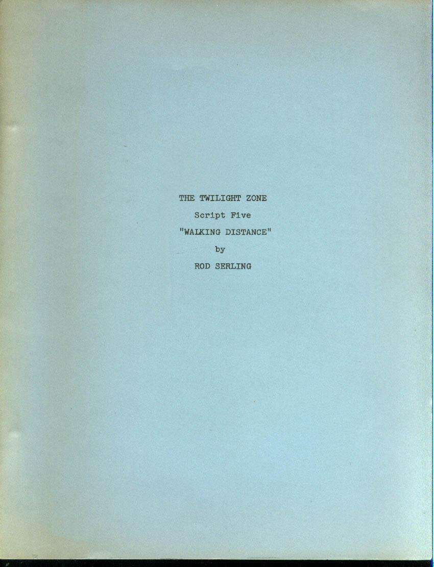 The Twilight Zone Walking Distance writing school facsimile script 1960s