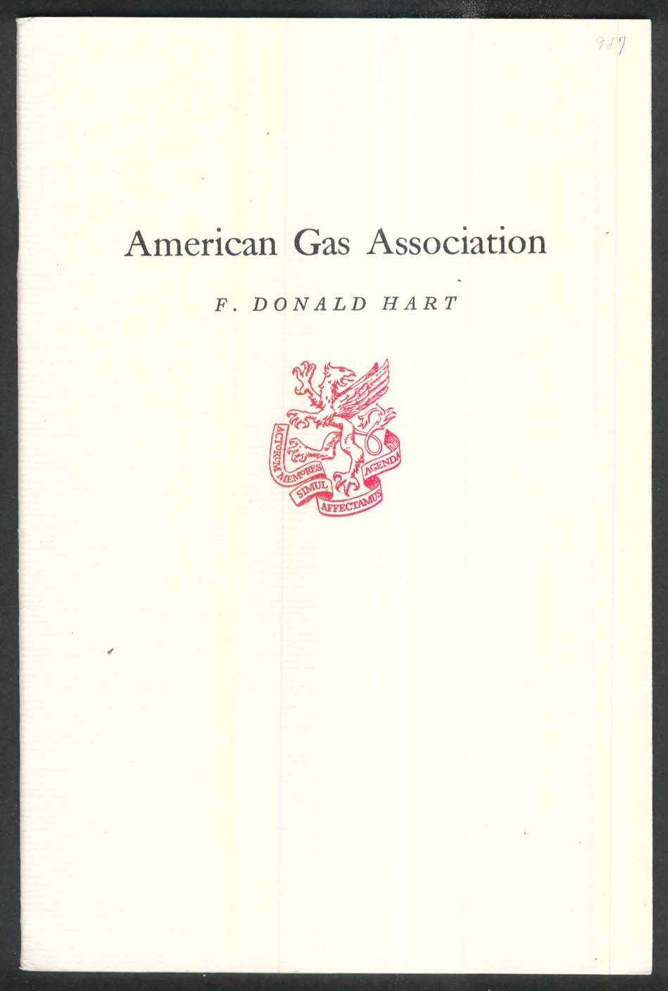 NEWCOMEN #987 American Gas Association Donald Hart 2 1974 1st Printing