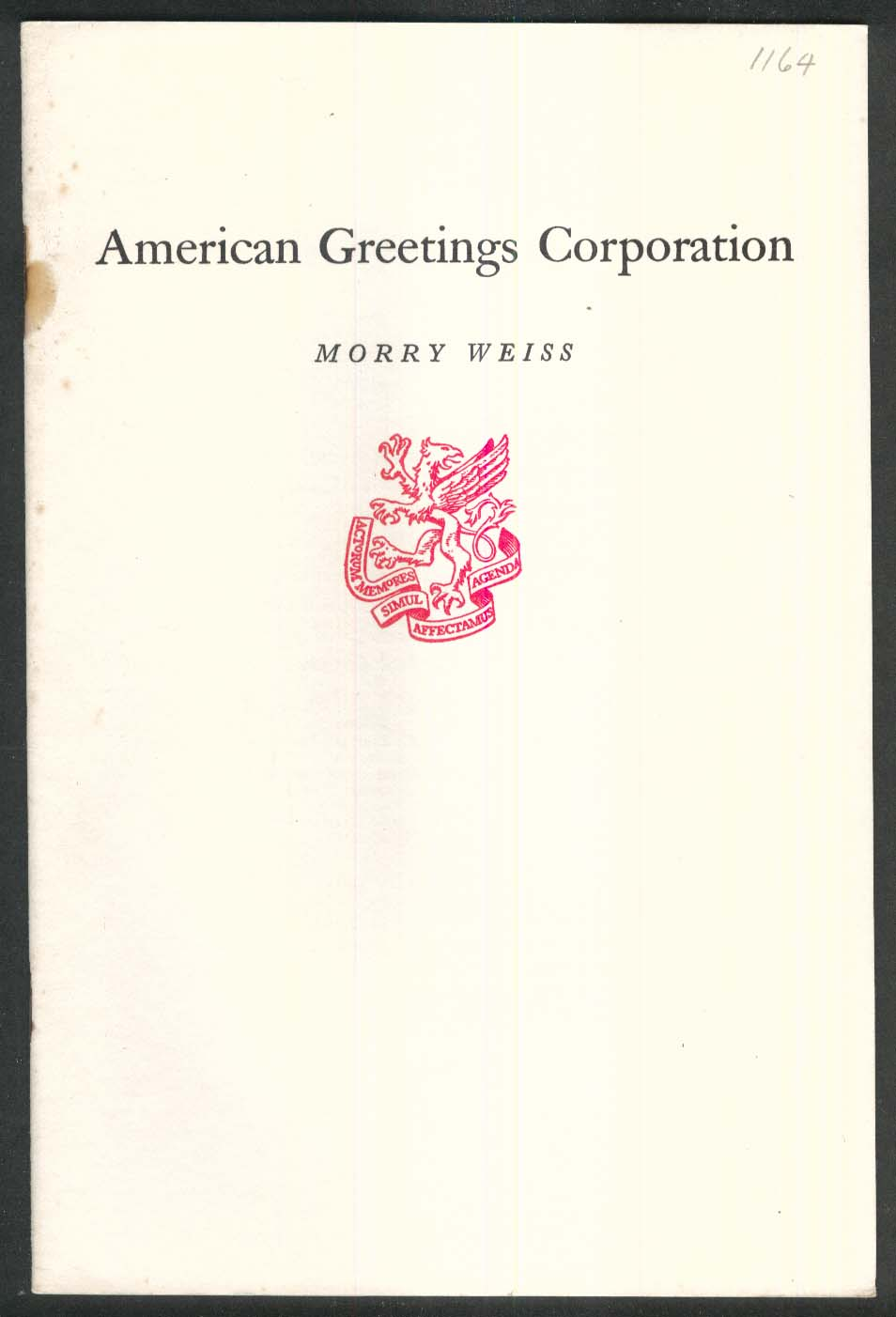Newcomen 1164 american greetings corporation morry weiss 2 1982 1st newcomen 1164 american greetings corporation morry weiss 2 1982 1st printing m4hsunfo