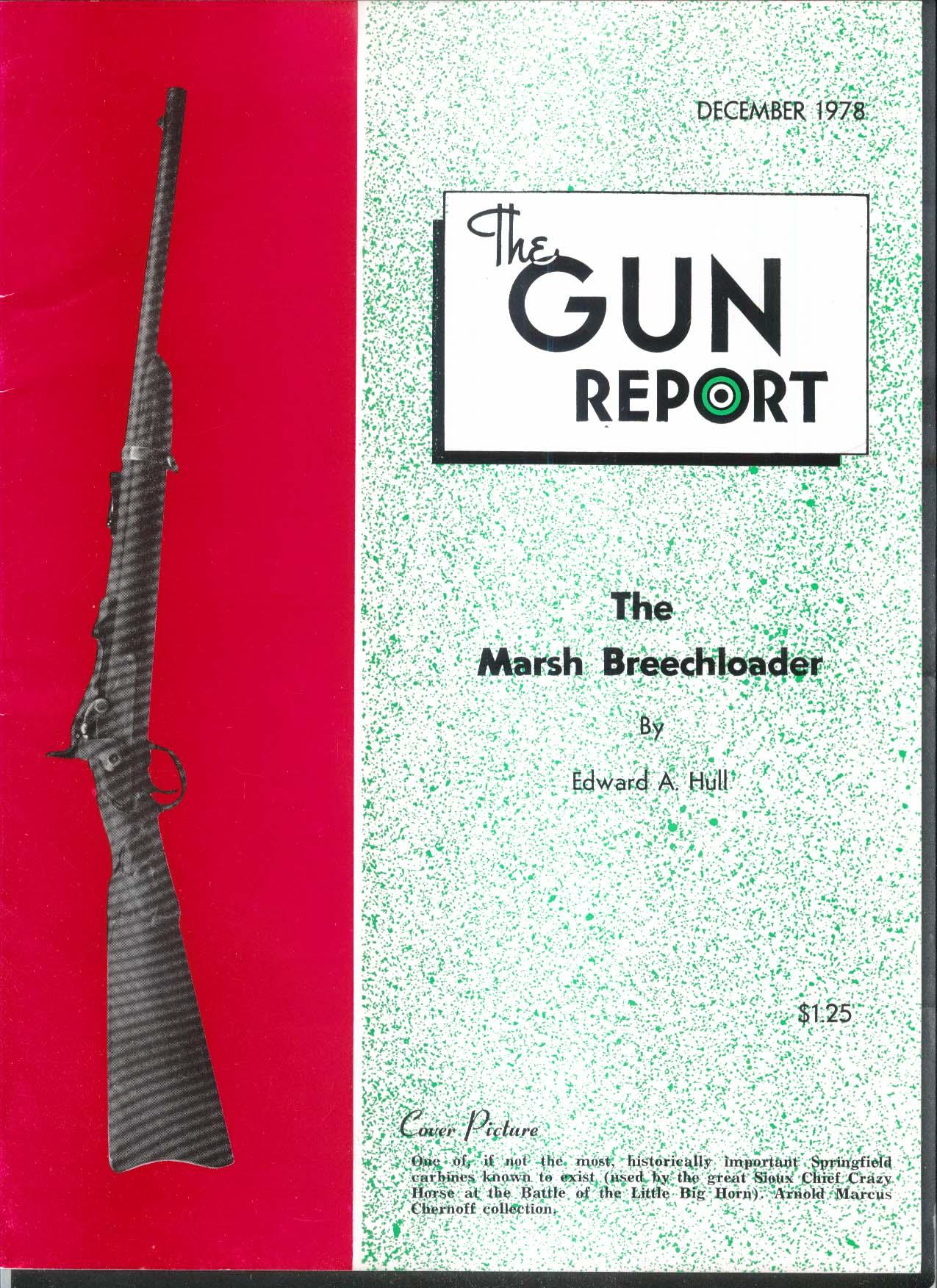 GUN REPORT Marsh Breechloader Crazy Horse Springfield Carbine 12 1978
