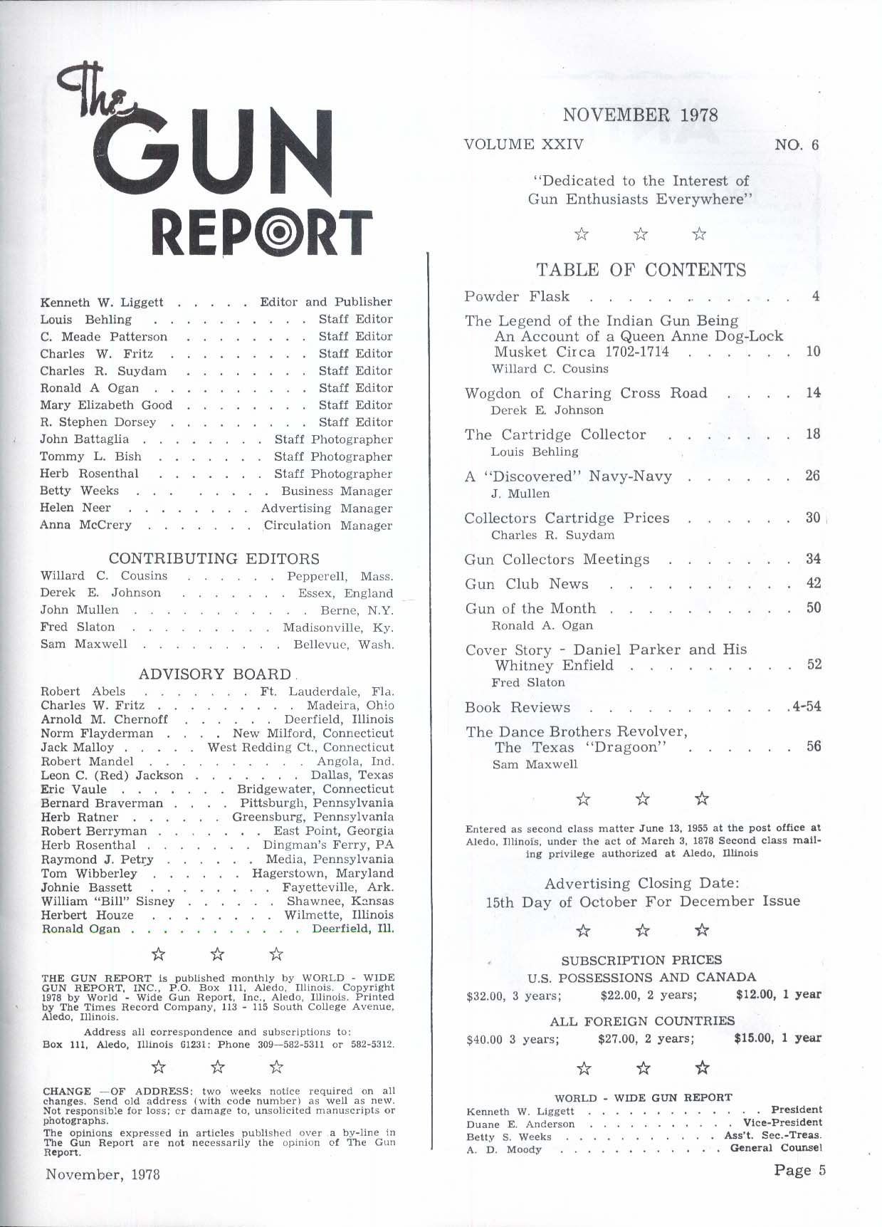 GUN REPORT Indian gun Queen Anne Dog-Lock Musket Whitney-Enfield RIfle 11 1978