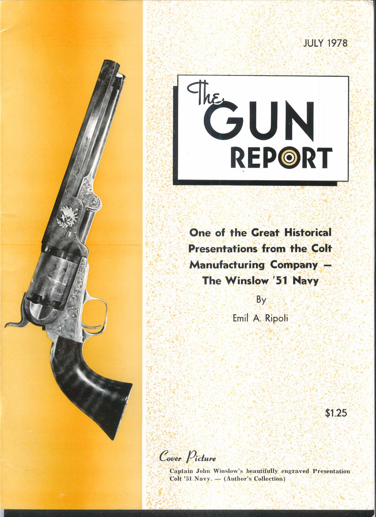 GUN REPORT Winslow 1851 Navy Colt Savage-Halpine Torpedo 7 1978