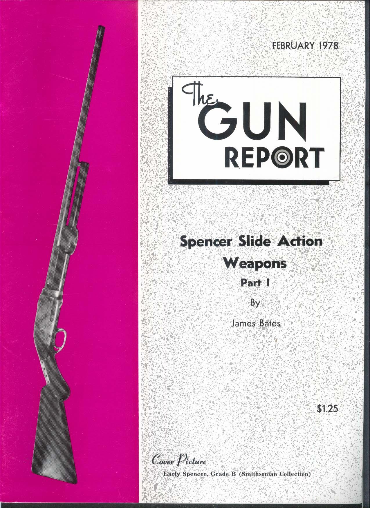 GUN REPORT Spencer Slide Action Weapons Colonel R C Kuhn Remington 2 1978